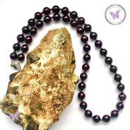 Garnet & Hematite Bead Necklace